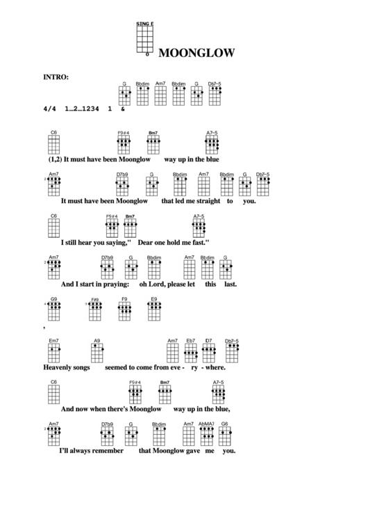 Moonglow Chord Chart printable pdf download