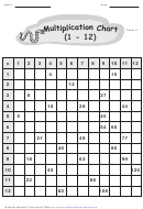 Multiplication Chart Worksheet
