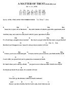 Chord Chart - Billy Joel - A Matter Of Trust (bar)