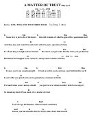 Chord Chart - Billy Joel - A Matter Of Trust