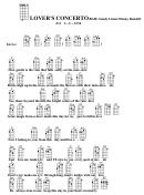 Lover's Concerto (bar) - Sandy Linzer/denny Randell Chord Chart