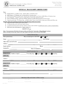 Peralta Community College District Official Transcript Order Form