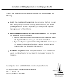 City Of Minneapolis - Health Plan Enrollment Change Form