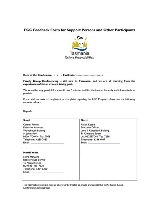 Professional Services Feedback Form Printable pdf