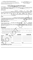 Islamic Marriage Certificate/contract