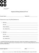 Duplicate Billing Statement Form