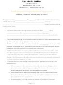 Wedding Ceremony Agreement & Contract