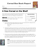 Cereal Box Book Report Form