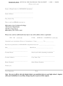 Official High School Transcript/ged/hsed Request Form