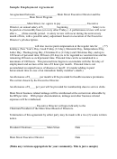 Sample Employment Agreement Template