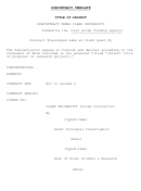 Subcontract Template