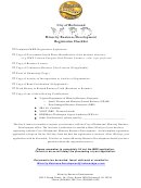 Minority Business Development Registration Form, City Of Richmond