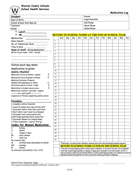 84 medication log free to download in pdf