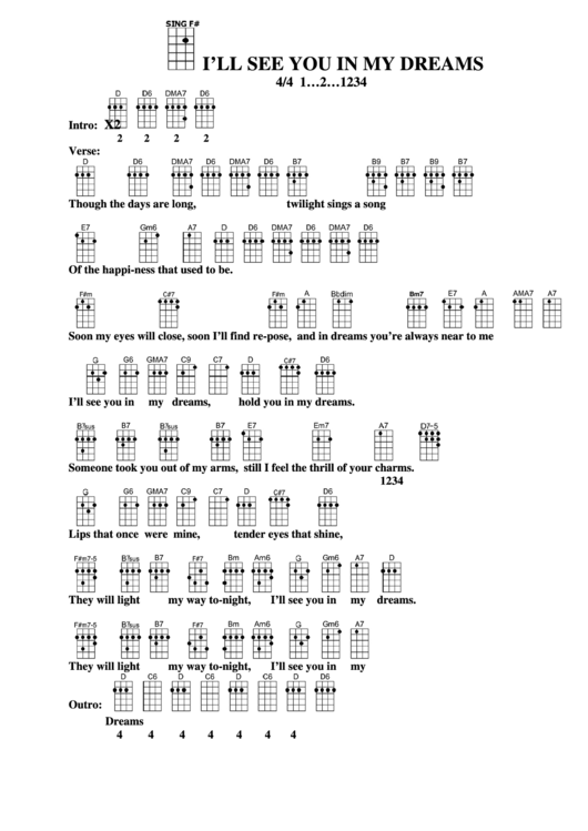 I Ll See You In My Dreams Chords Image Collections Finger