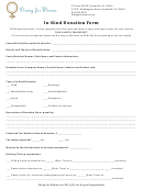In-kind Donation Form - Dining For Women