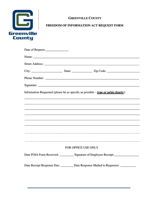 foia request form greenville county printable pdf download. Black Bedroom Furniture Sets. Home Design Ideas