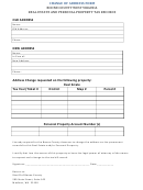 Change Of Address Form - Boone County Sheriffs Tax Office