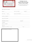 Daycare Application Form