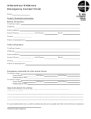 Afterschool Childcare Emergency Contact Form