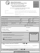 Application For Reappointment As A Notary North Carolina Notary Public Form - 2001