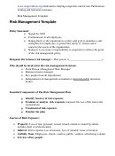Risk Management Template