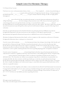 Sample Letter For Hormone Therapy - Garden Of Peace
