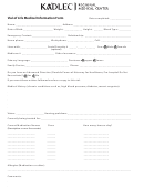 Vial Of Life Medical Information Form