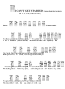 Chord Chart - Vernon Duke/ira Gershwin - I Can't Get Started
