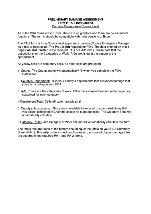 preliminary damage assessment printable pdf download