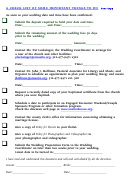 A Checklist Of Some Important Things To Do
