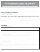 Physician Progress Note For Face To Face Encounter And Certification Of Eligibility For Home Health Services Form - Grey