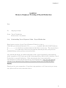 Sample Memo To Employee Warning Of Payroll Deduction