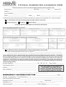 Sports Qualifying Physical Examination Form - Bedford Public Schools