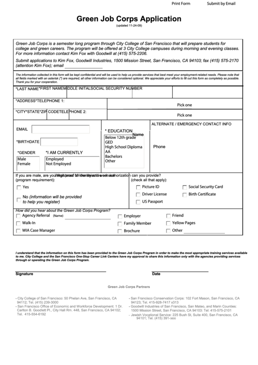 Top Job Corps Application Form Templates Free To Download In Pdf Format