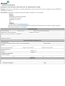 Request For Gswpa Certificate Of Insurance Form