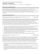 Sample Resume: Business Analyst