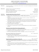 Sample Secondary Teacher Resume