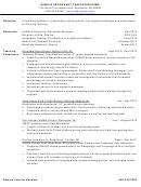 Sample Secondary Teacher Resume