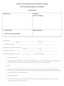 Policy Proposal/impact Statement Cover Sheet