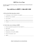 Hipp Fax Cover Page Template