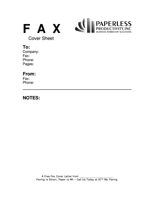 Business Fax Cover Sheet Printable pdf