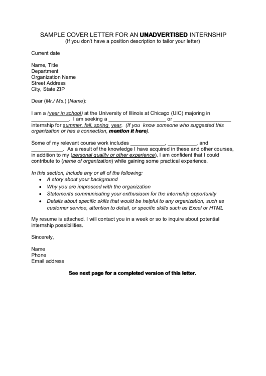 18 Cover Letter For Internship free to download in PDF