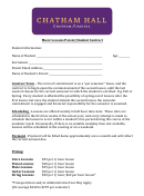 Chatham Hall Music Lessons Parent/student Contract