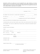 Specimen Form Of Affidavit To Be Submitted By Parent(s) Staying Abroad