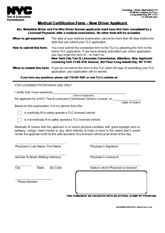 medical certification form for tlc - Mersn.proforum.co