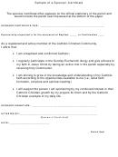 Sample Of A Sponsor Certificate
