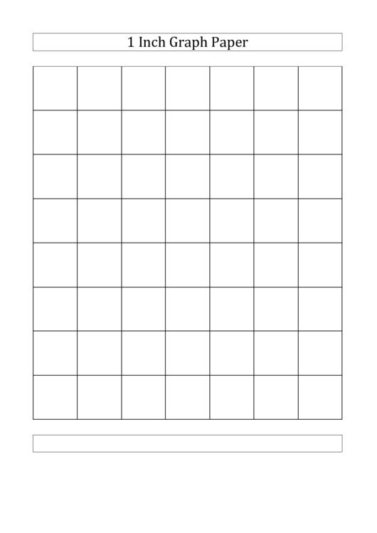 1 Inch Graph Paper Printable Pdf Download