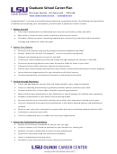 Lsu Graduate School Career Plan