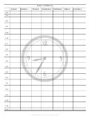 Daily Schedule Template - Clock