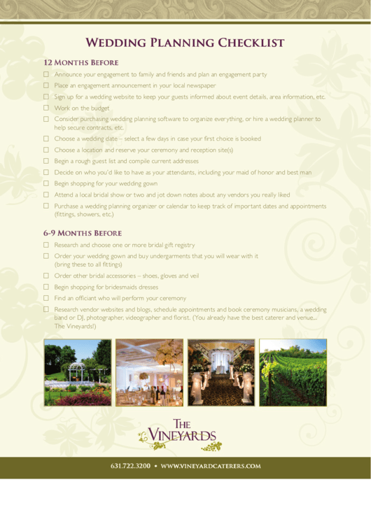Wedding Planning Checklist With Images